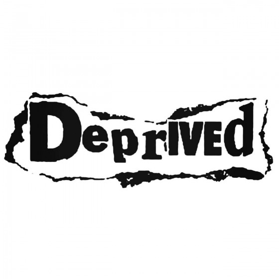 Deprived 2 Band Decal Sticker