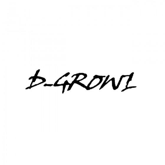 D Growlband Logo Vinyl Decal