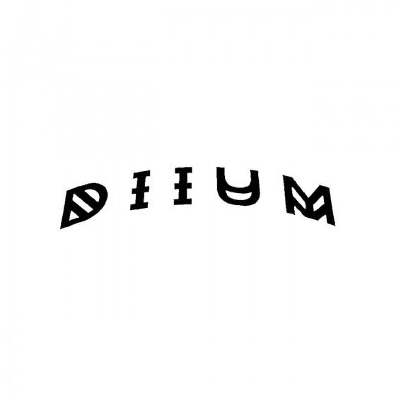 D I I U Mband Logo Vinyl Decal