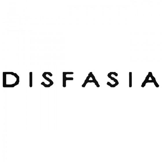 Disfasia Band Decal Sticker