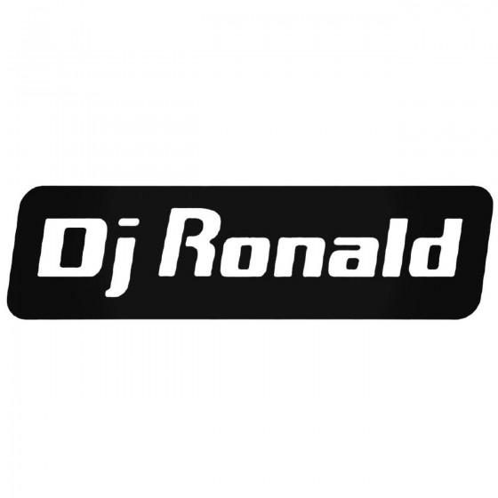 Dj Ronald Decal Sticker