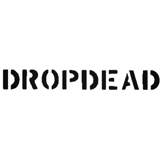 Dropdead Band Decal Sticker