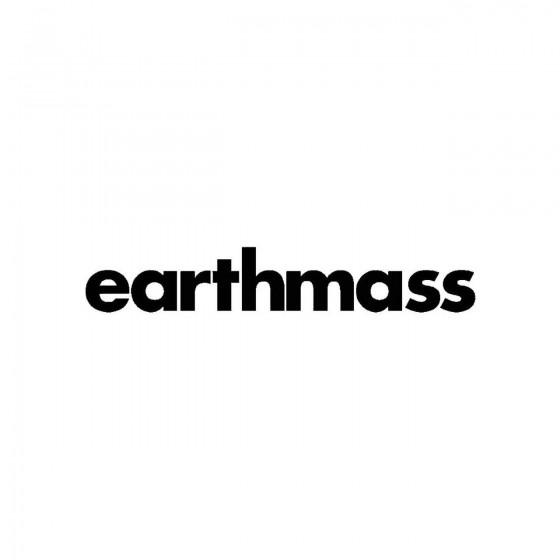 Earthmassband Logo Vinyl Decal