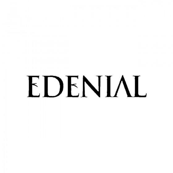 Edenialband Logo Vinyl Decal