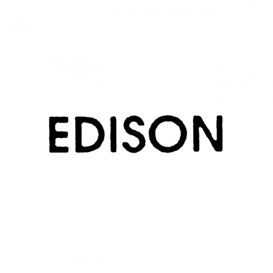 Edisonband Logo Vinyl Decal