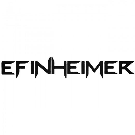 Efinheimer Band Decal Sticker