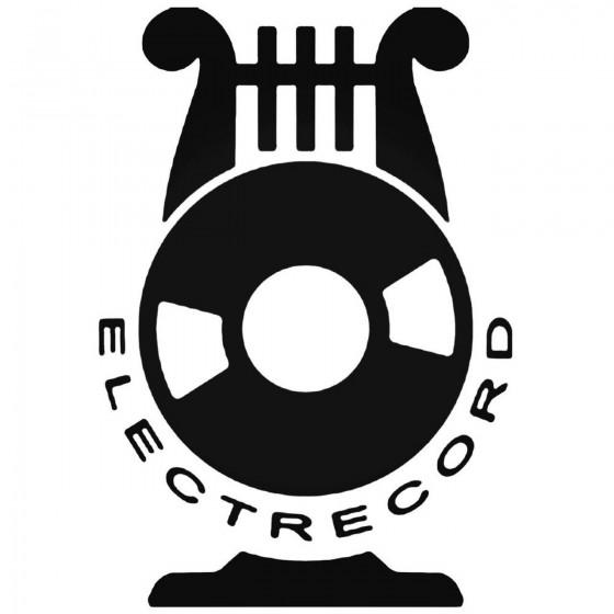 Electrecord Decal Sticker