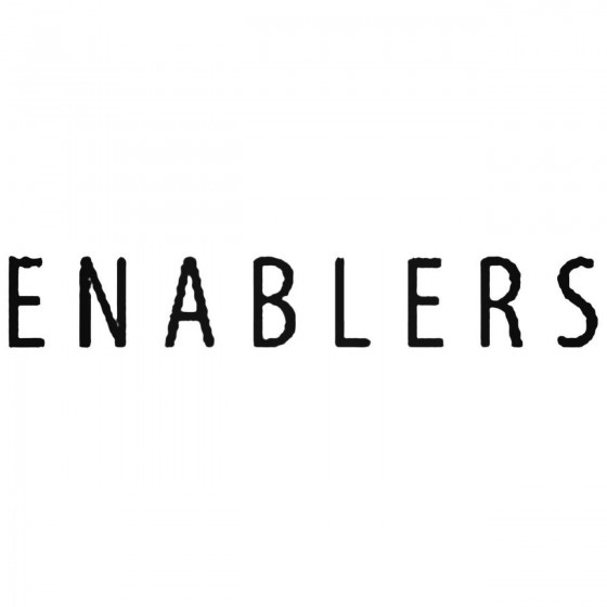 Enablers Band Decal Sticker