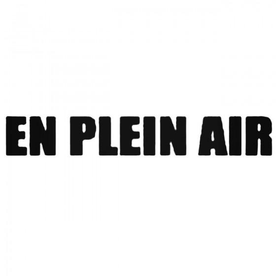 En Plein Air Band Decal...