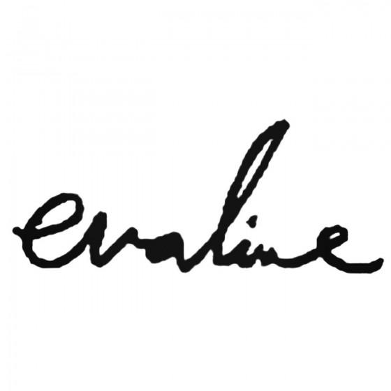 Evaline Band Decal Sticker