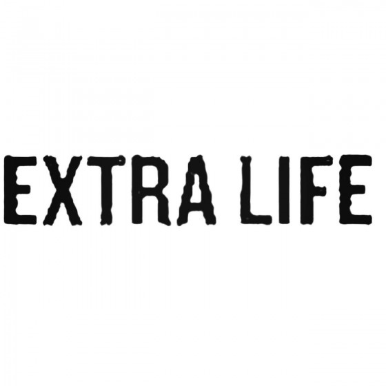 Extra Life Band Decal Sticker