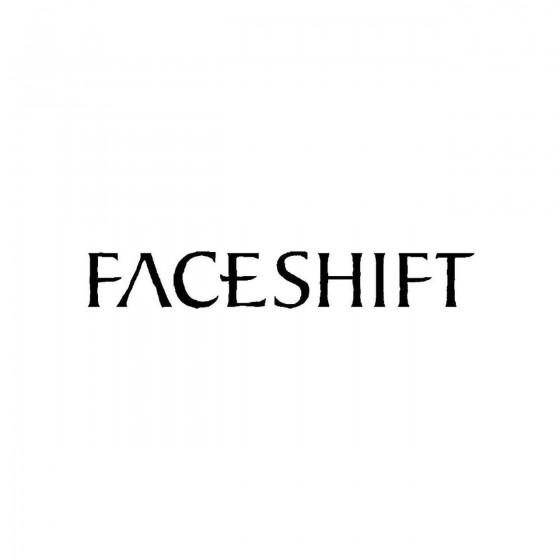 Faceshiftband Logo Vinyl Decal