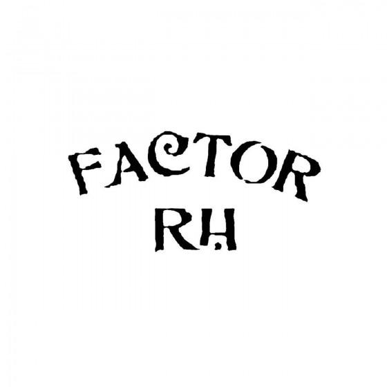 Factor Rhband Logo Vinyl Decal