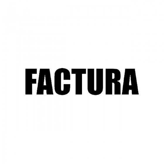 Facturaband Logo Vinyl Decal