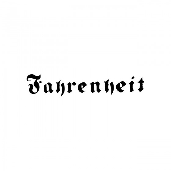 Fahrenheit 3band Logo Vinyl...