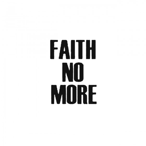 Faith No More Band Decal...