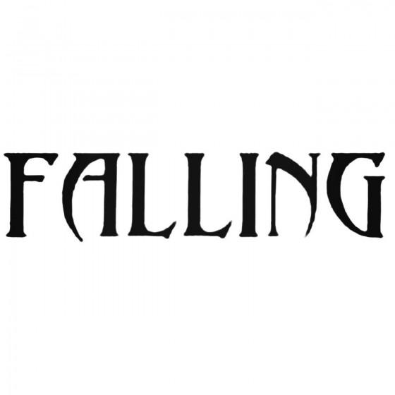 Falling Band Decal Sticker