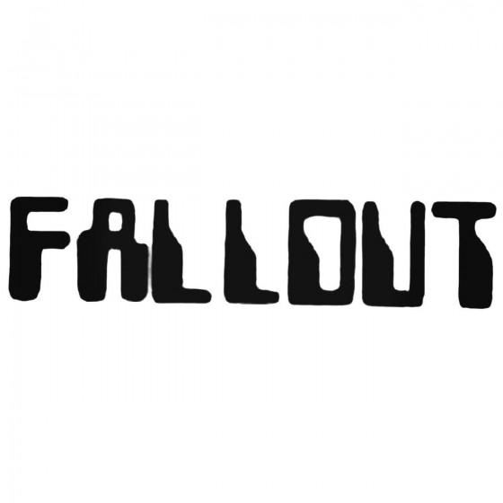 Fallout Usa Band Decal Sticker