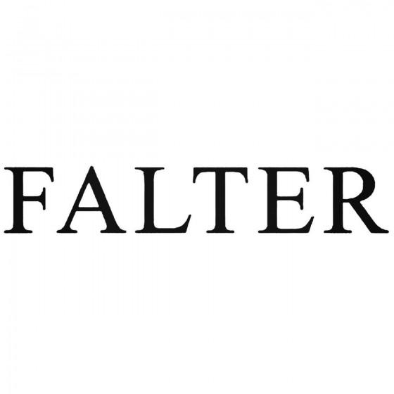 Falter Band Decal Sticker