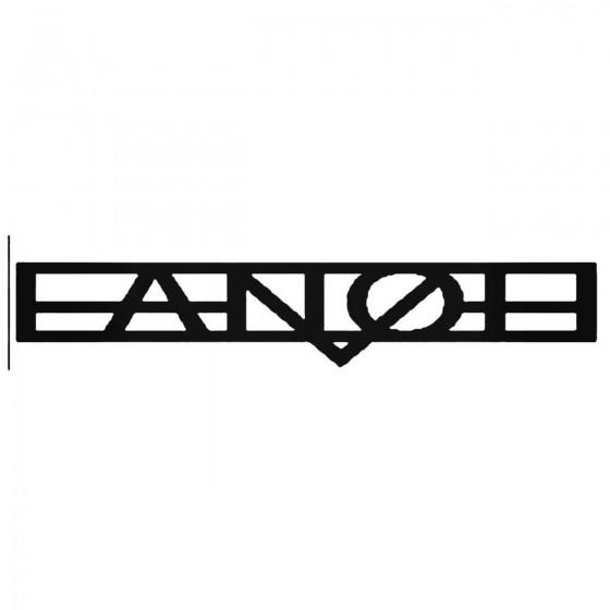 Fanoe Band Decal Sticker