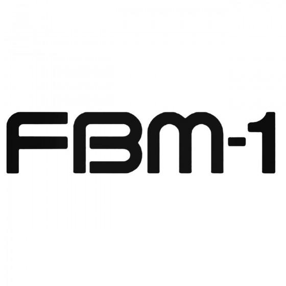 Fbm 1 Decal Sticker