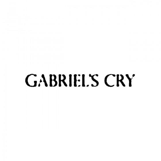Gabriels Cryband Logo Vinyl...