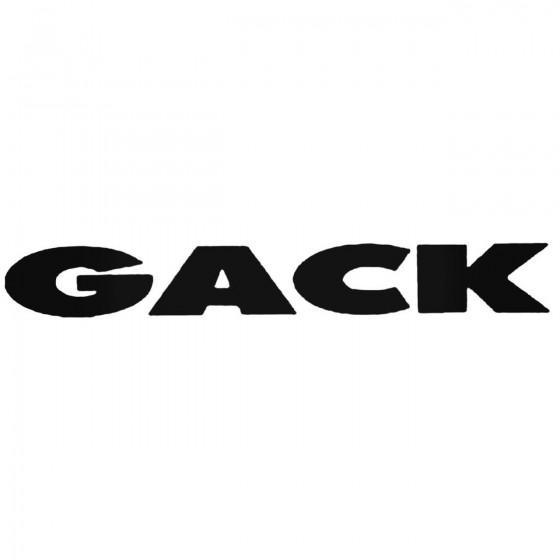 Gack Band Decal Sticker