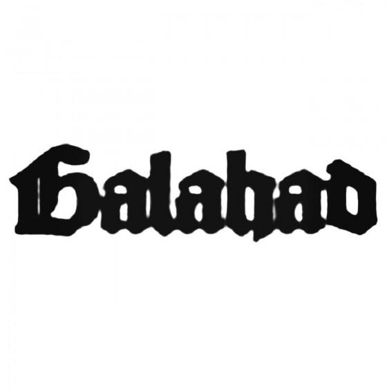 Galahad Fra Band Decal Sticker