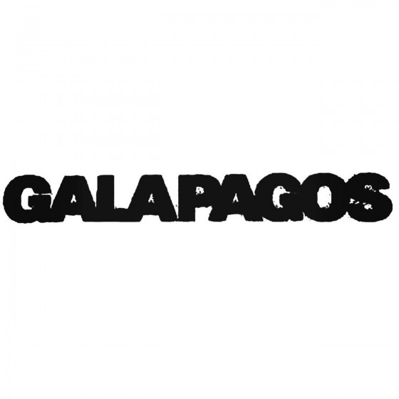 Galapagos Band Decal Sticker