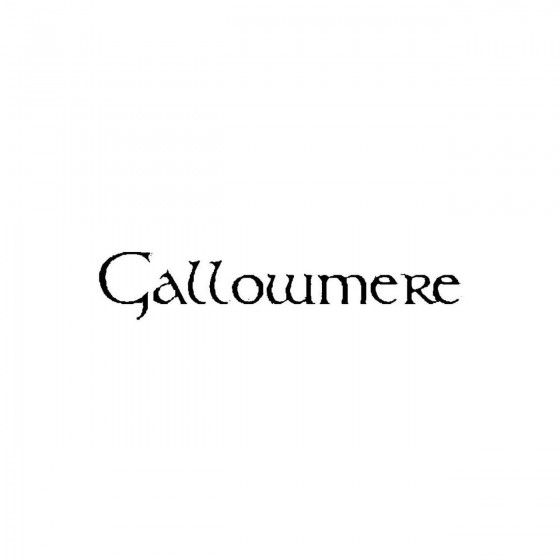 Gallowmereband Logo Vinyl...