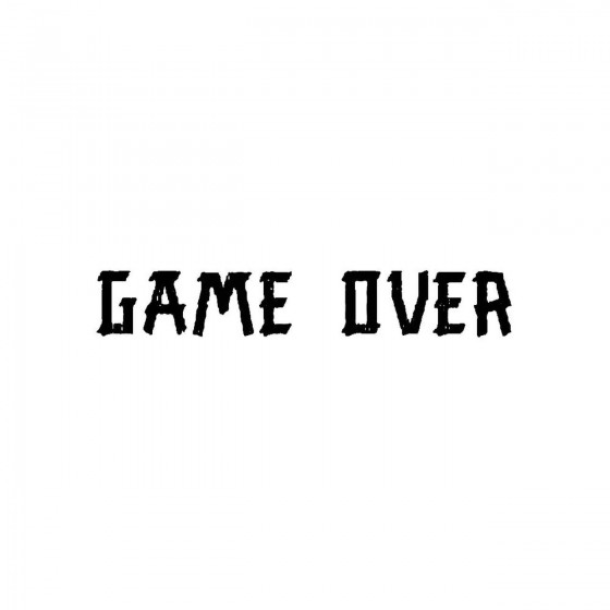 Game Overband Logo Vinyl Decal