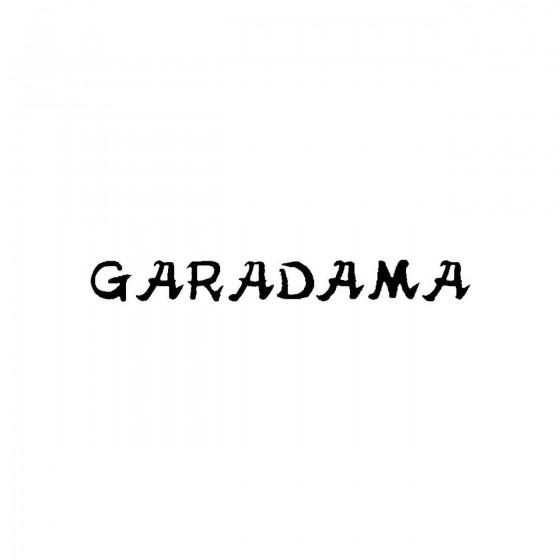 Garadamaband Logo Vinyl Decal
