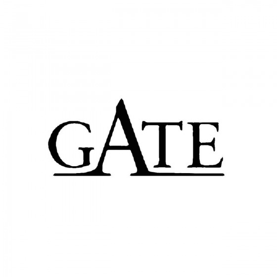 Gate 2band Logo Vinyl Decal