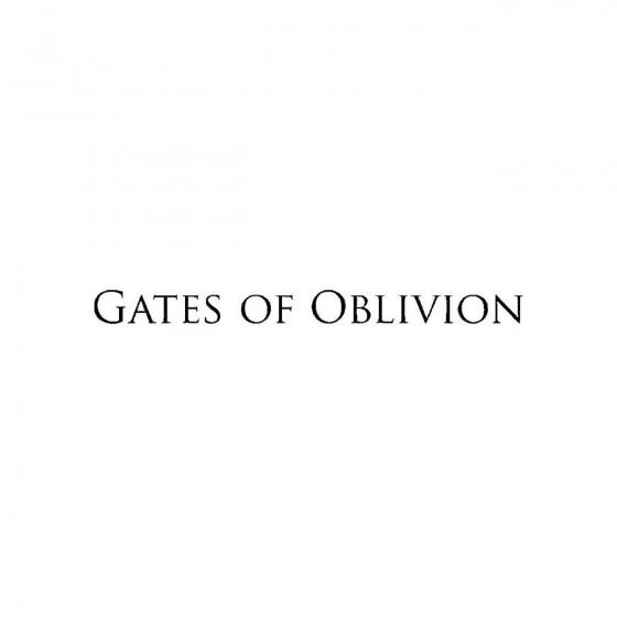 Gates Of Oblivionband Logo...