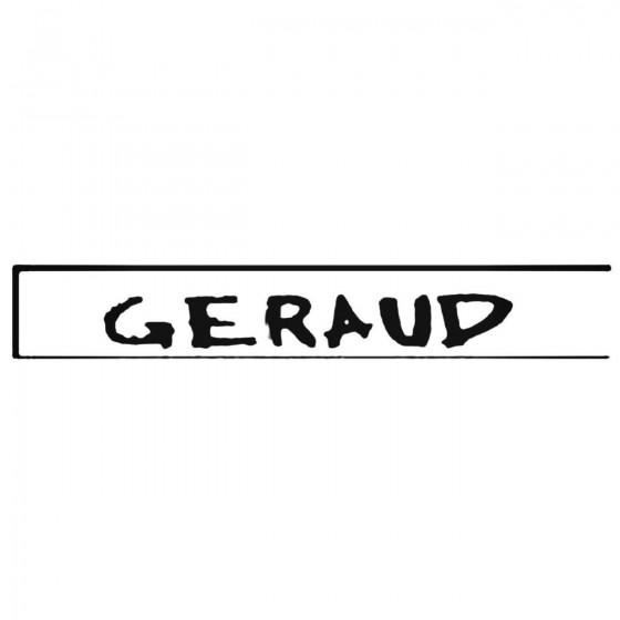 Geraud Band Decal Sticker