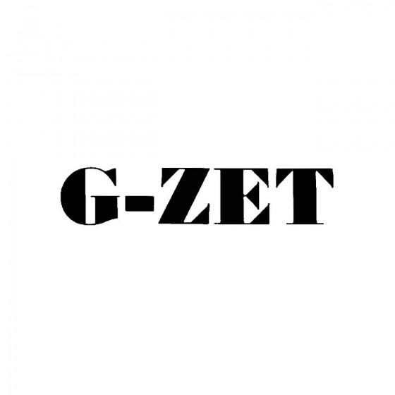 G Zetband Logo Vinyl Decal