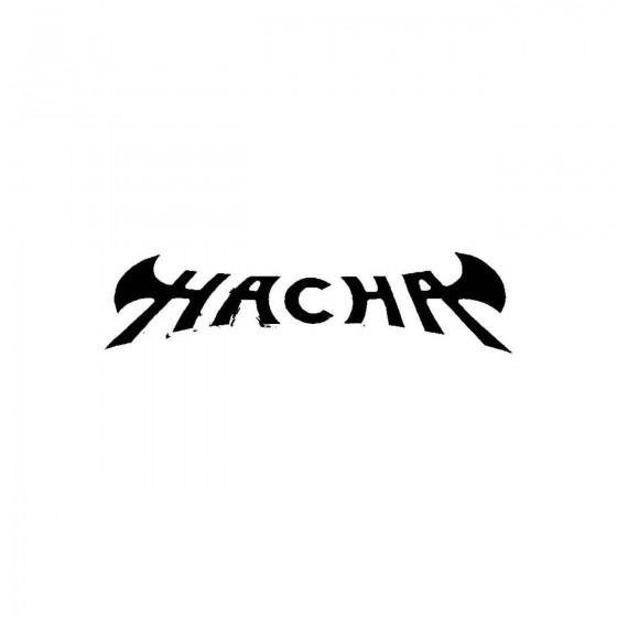 Hacha 2band Logo Vinyl Decal