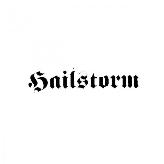 Hailstorm 2band Logo Vinyl...