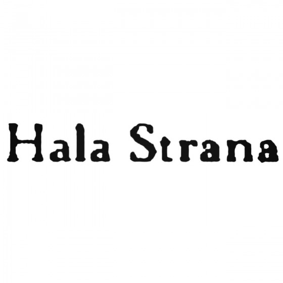 Hala Strana Band Decal Sticker