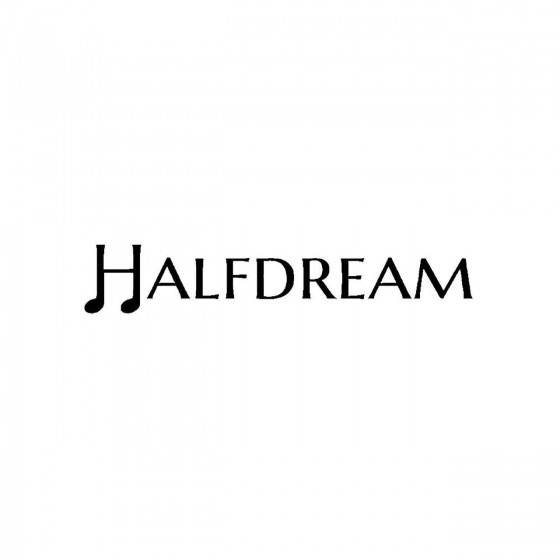 Halfdreamband Logo Vinyl Decal