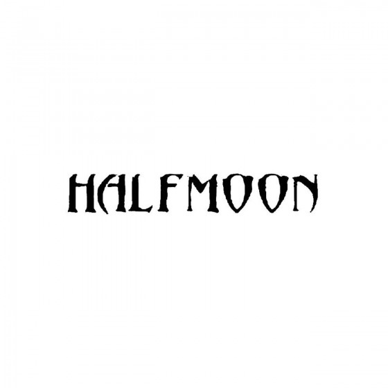 Halfmoonband Logo Vinyl Decal