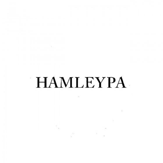 Hamleypaband Logo Vinyl Decal