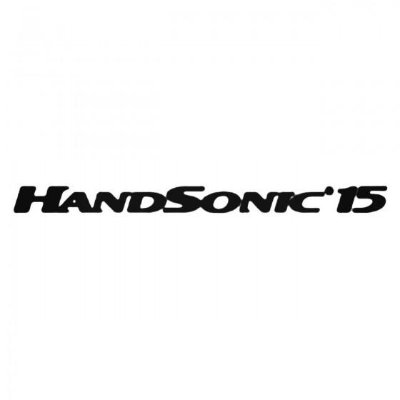 Handsonic 15 Decal Sticker