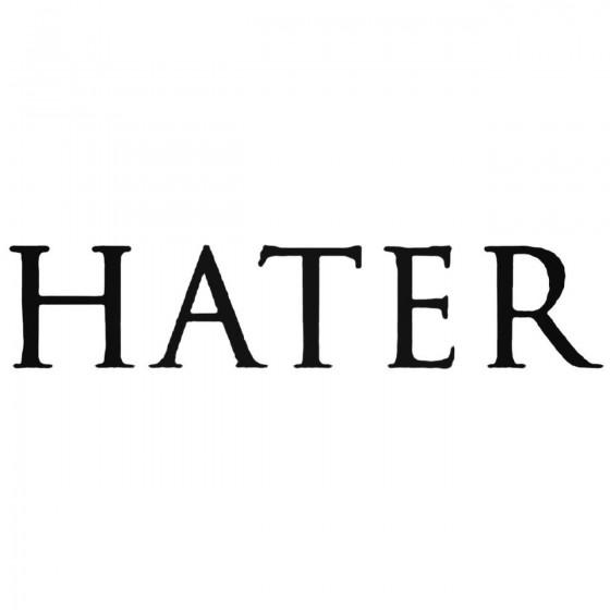 Hater Ita Band Decal Sticker