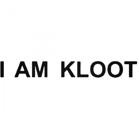 I Am Kloot Band Decal Sticker