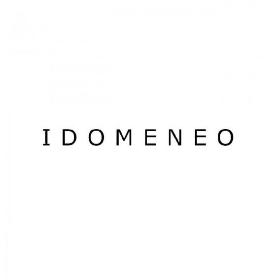 Idomeneoband Logo Vinyl Decal