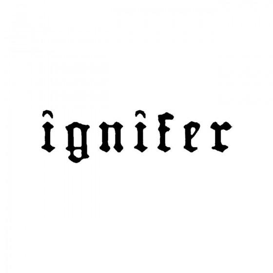 Igniferband Logo Vinyl Decal