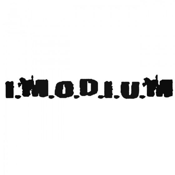 Imodium Band Decal Sticker