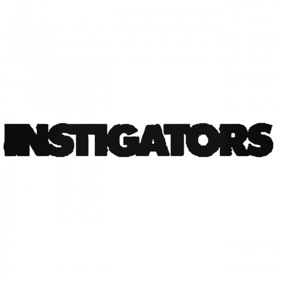 Instigators Band Decal Sticker