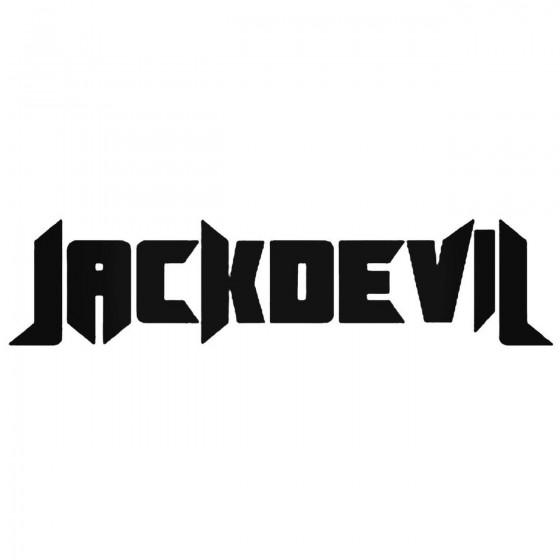 Jackdevil Band Decal Sticker